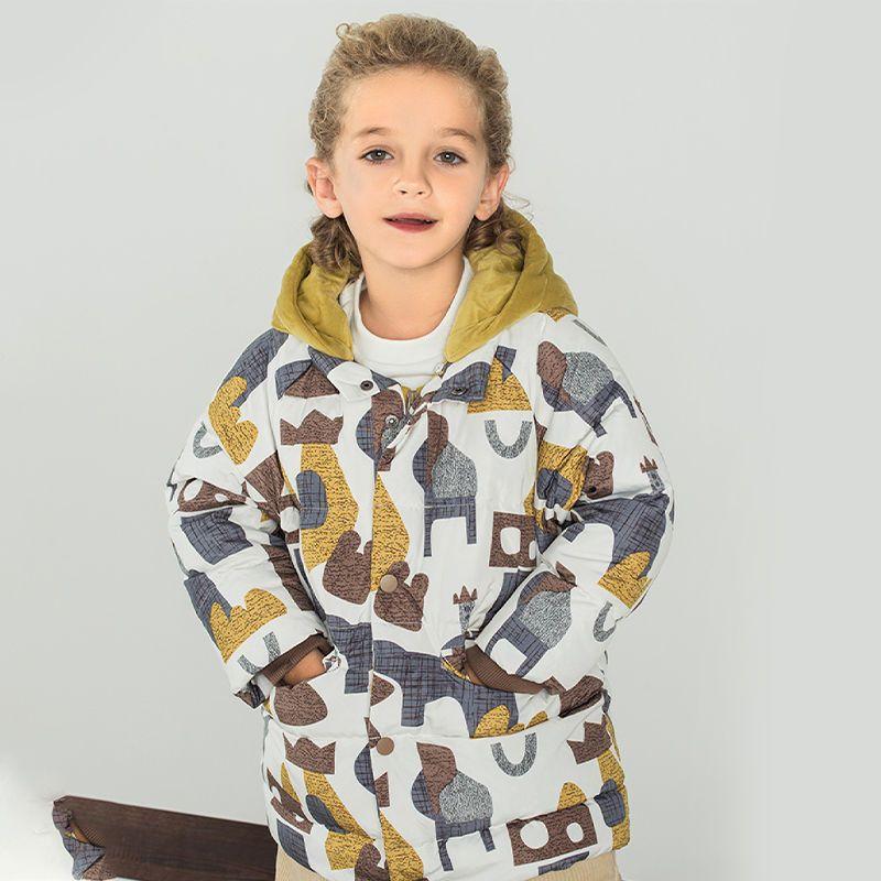 88918-巴拉巴拉反季儿童羽绒服男童羽绒服男幼童印花潮流防风保暖羽绒服-详情图