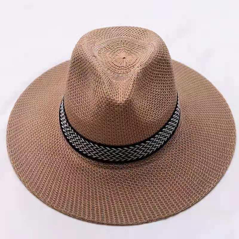 2021夏季遮阳帽中年男士礼帽防晒帽太阳帽透气渔夫帽300顶起批