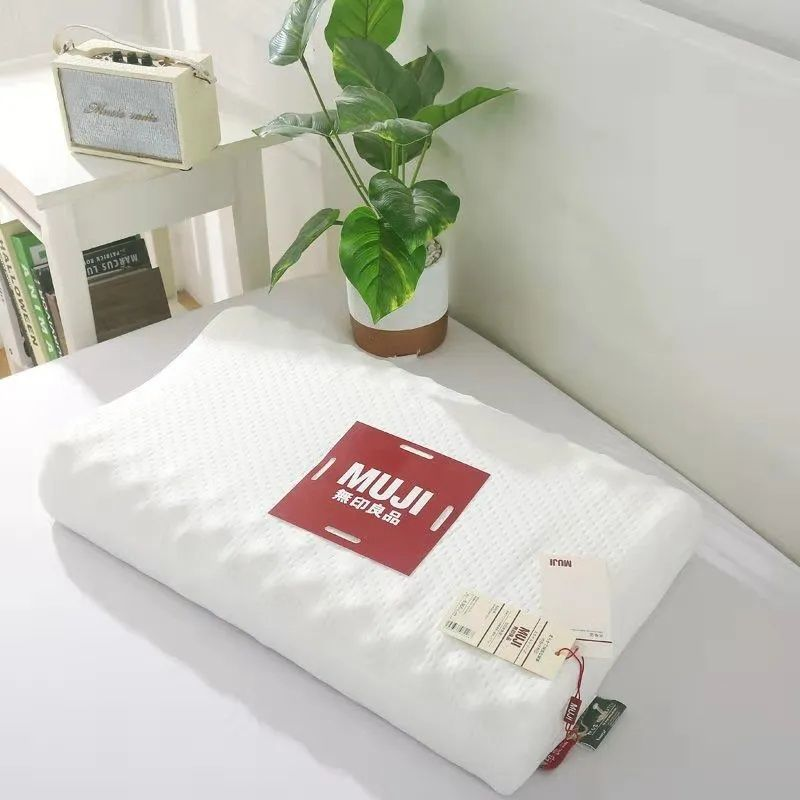 75897-无印风乳胶枕头软枕头慢回弹记忆保健枕进口酒店用护颈枕芯助眠-详情图