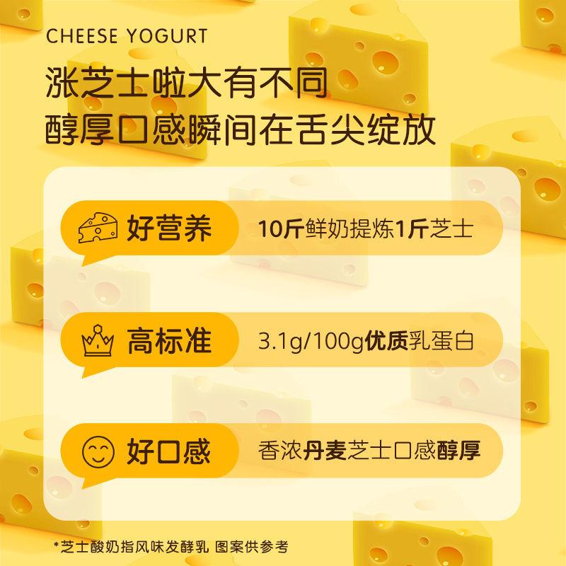 54228-[5月产]君乐宝酸奶涨芝士啦常温酸奶益生菌发酵乳酸奶200g*12盒-详情图