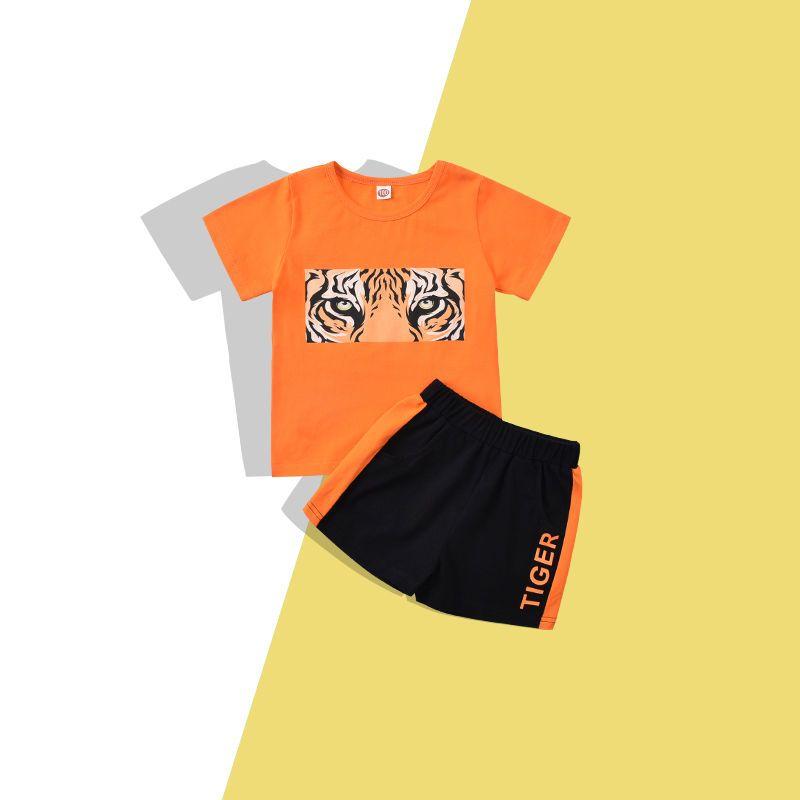 54332-小男孩套装新款2021帅气 洋气2-6岁男宝宝两件套男童夏装童装潮-详情图
