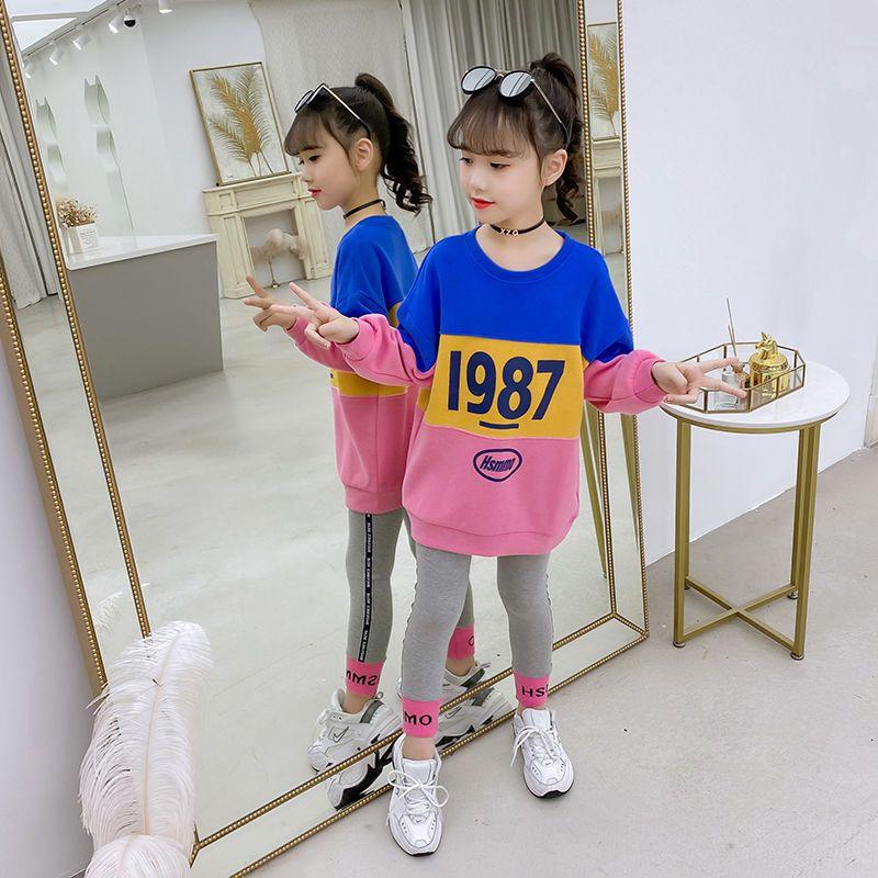 54284-女童秋装套装2020新款网红洋气儿童秋季中大童女孩春秋时髦两件套-详情图