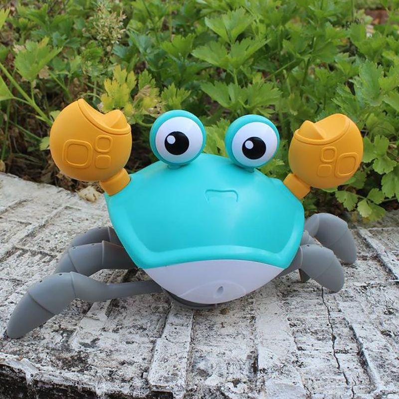 88589-儿童玩具电动感应螃蟹玩具女孩生日礼物男动物模型仿真玩具3到6岁-详情图