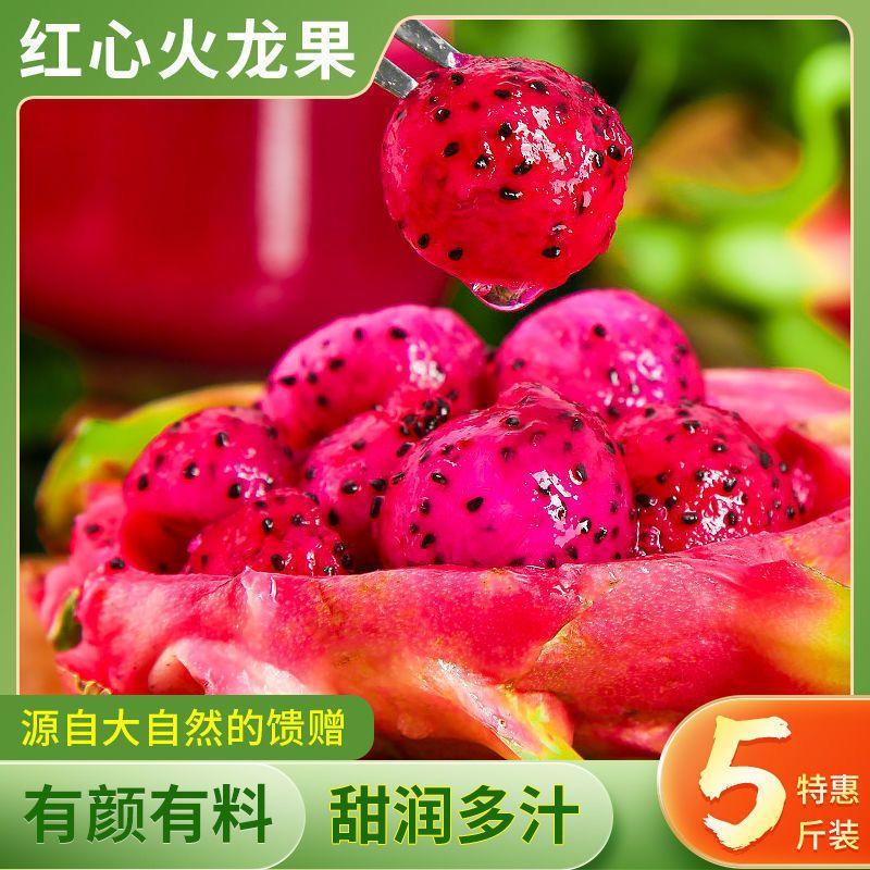 特价5斤当季金都红心火龙果红肉新鲜应季热带水果批发整箱包邮