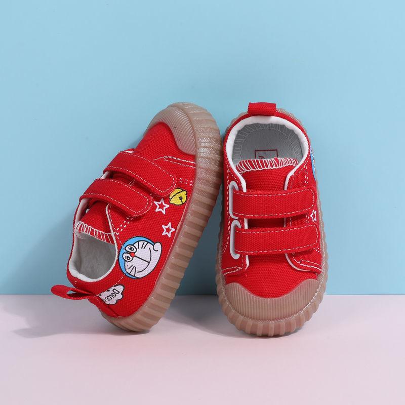 88749-实心软底春秋宝宝鞋牛筋底学步鞋婴儿鞋透气帆布鞋单鞋男女童鞋子-详情图
