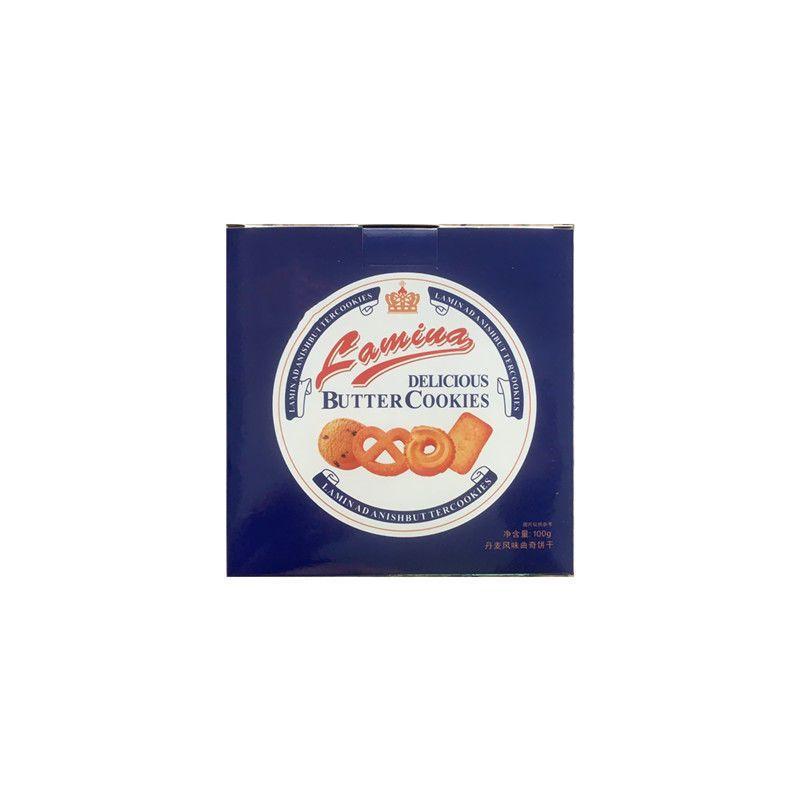 57713-丹麦风味曲奇黄油奶香酥性饼干网红早餐下午茶休闲零食100g礼品装-详情图