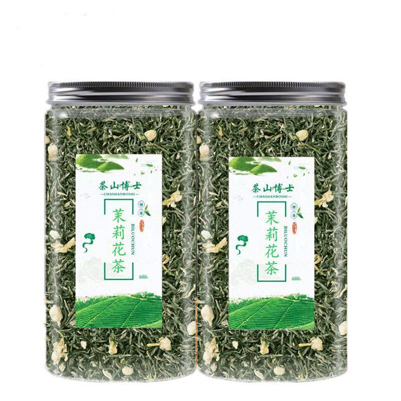 75827-(送茶水杯)2021新茶茉莉花茶浓香小白豪春茶绿茶茶叶散装罐装-详情图