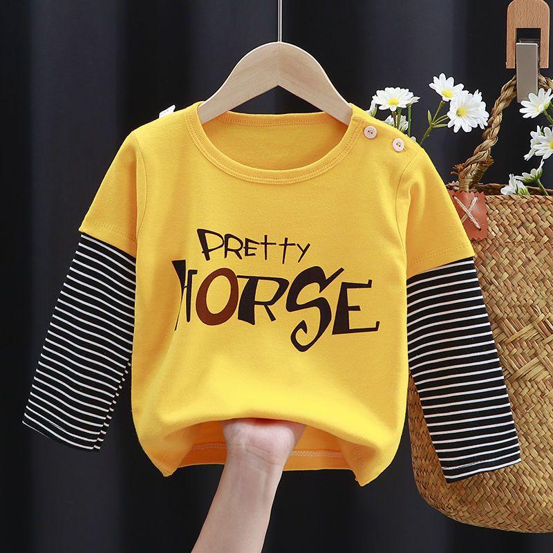 儿童长袖T恤纯棉男童秋衣女童打底衫宝宝单件上衣婴儿衣服春秋装1
