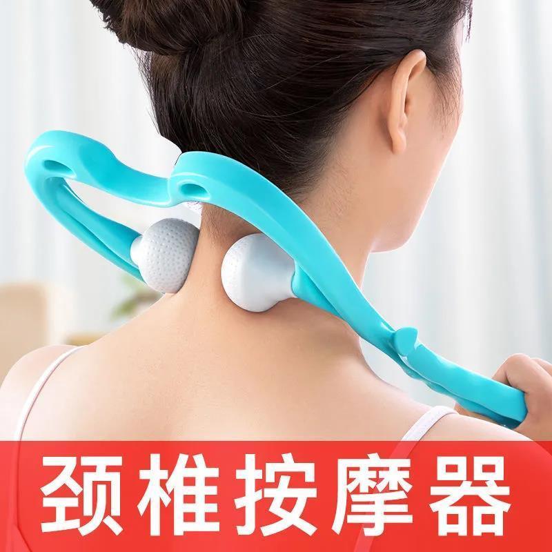 手动颈椎按摩器夹脖子颈部劲夹器多功能肩颈仪腰椎揉捏家用小神器