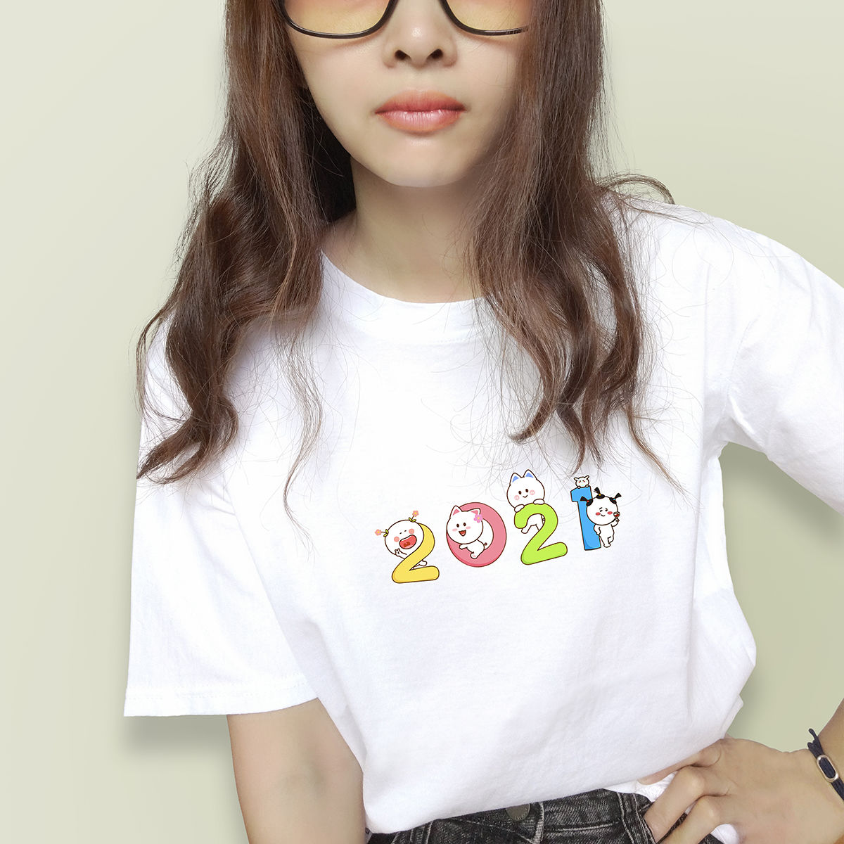 100%纯棉短袖t恤女装白色夏季新款上衣体恤宽松韩版半袖百搭时尚