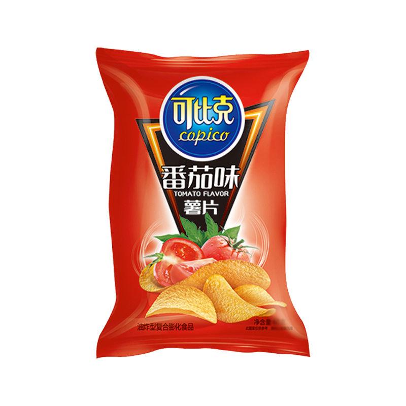 75732-可比克薯片超大包袋装多口味混装休闲零食小吃膨化食品非油炸散装-详情图