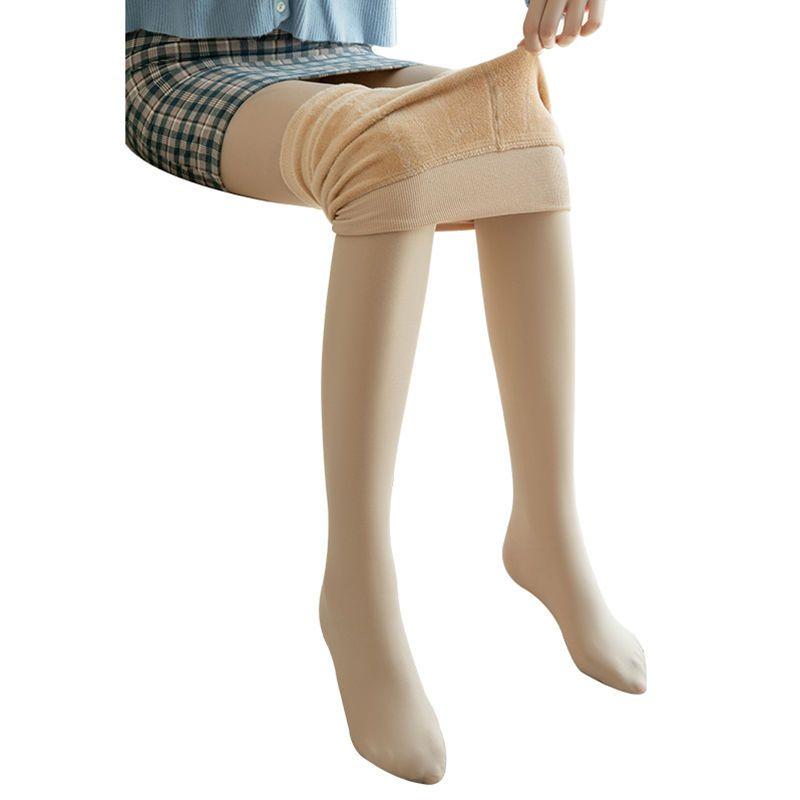 88531-2021秋冬季外穿加绒加厚外穿打底裤一体裤高腰肤色女踩脚裤袜-详情图