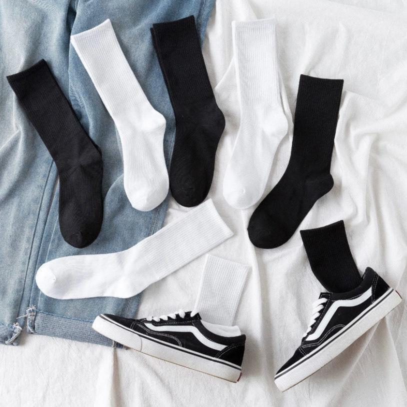 袜子女韩版中筒袜男秋季长袜子防臭篮球袜秋冬长筒堆堆袜学生潮流