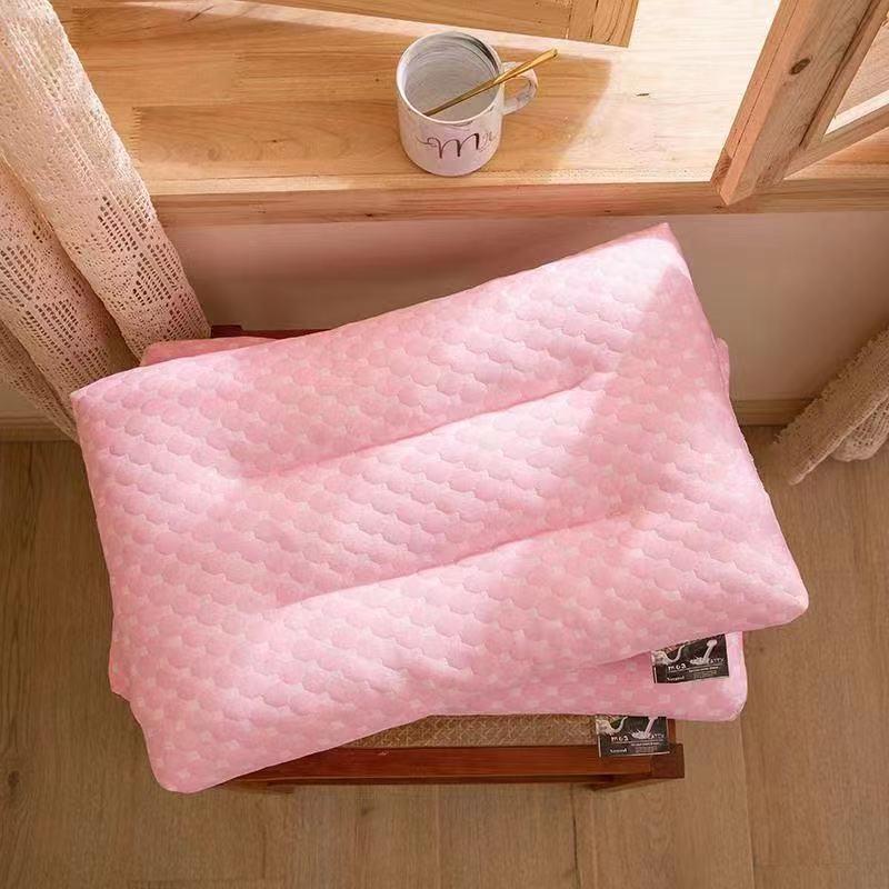 75741-泰国记忆乳胶枕头芯颈椎枕芯儿童枕头套装成人一对学生宿舍枕巾-详情图