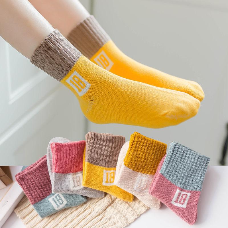 秋季中厚款儿童袜子男女童卡通中筒袜学生运动袜宝宝袜1-12岁