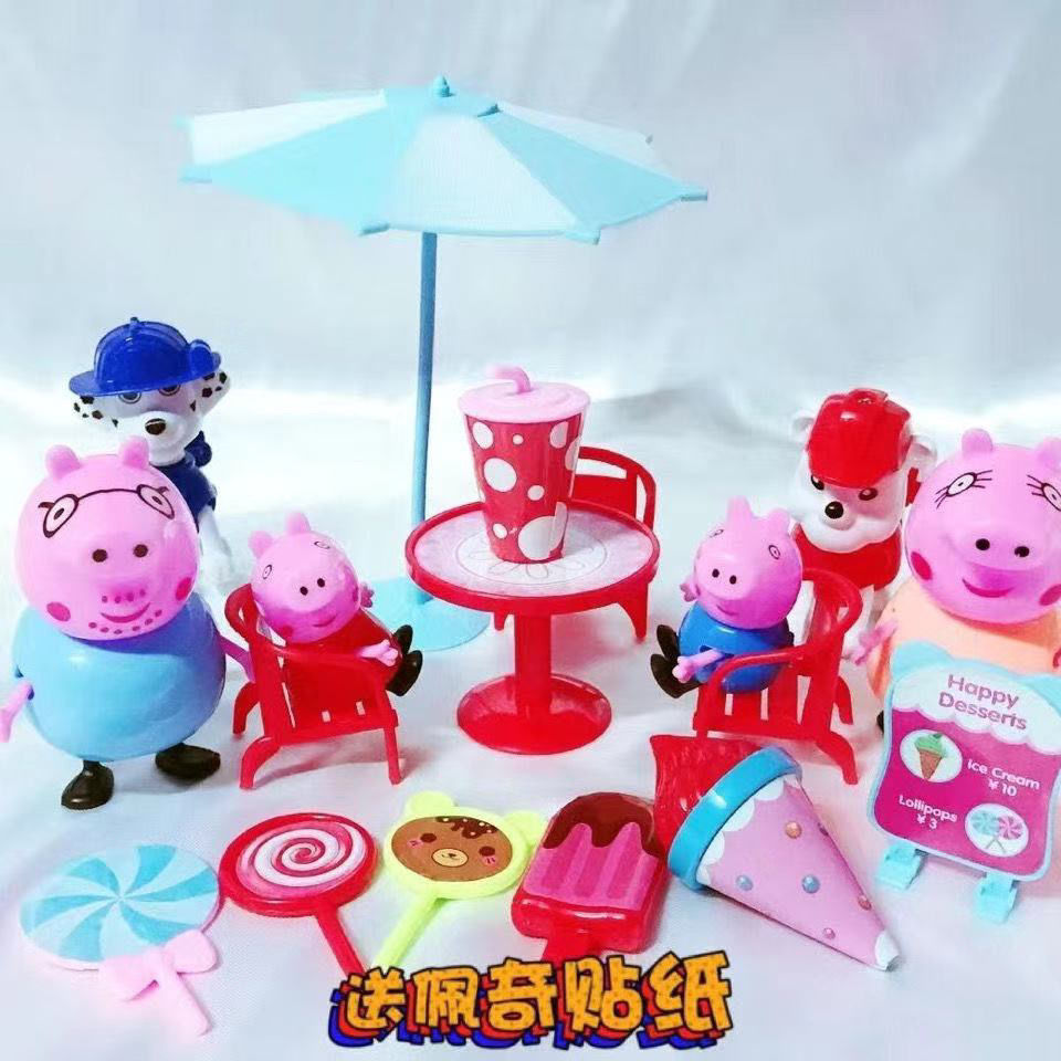 75692-小猪佩奇玩具家庭套装女孩玩具粉红佩琪一家过家家儿童玩具男女孩-详情图