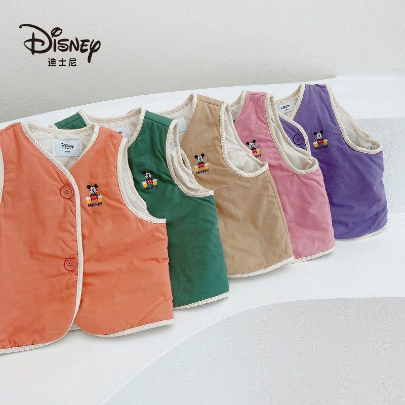 75798-迪士尼儿童羽绒棉马甲2021新款冬季男童女童外穿背心婴儿宝宝坎肩-详情图