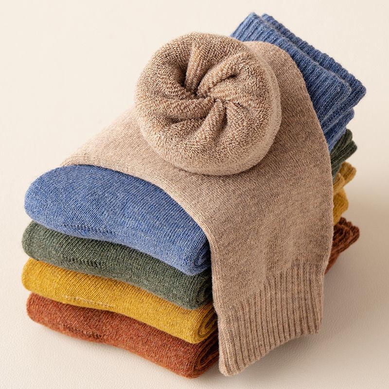 88702-袜子女冬季加绒加厚毛圈防寒保暖袜厚袜子女士毛巾地板袜加厚长袜-详情图