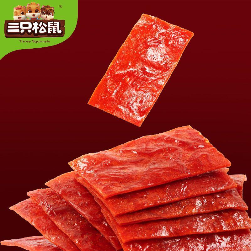 88399-【多袋】三只松鼠_高蛋白肉脯100g原味零食干传统靖江特产推荐_-详情图