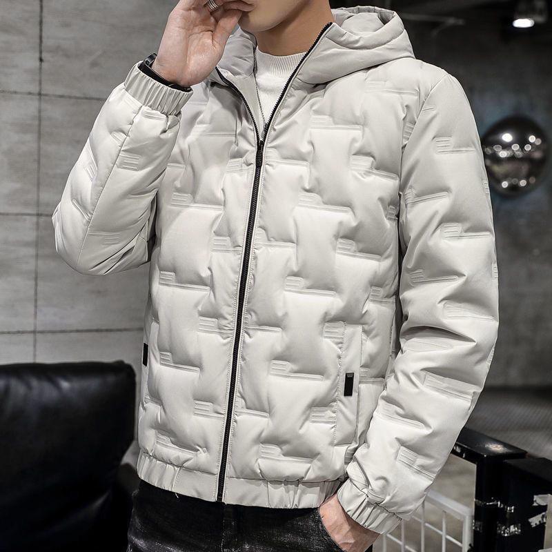 羽绒服冬季新款男士短款连帽潮流休闲学生韩版白鸭绒加厚外套