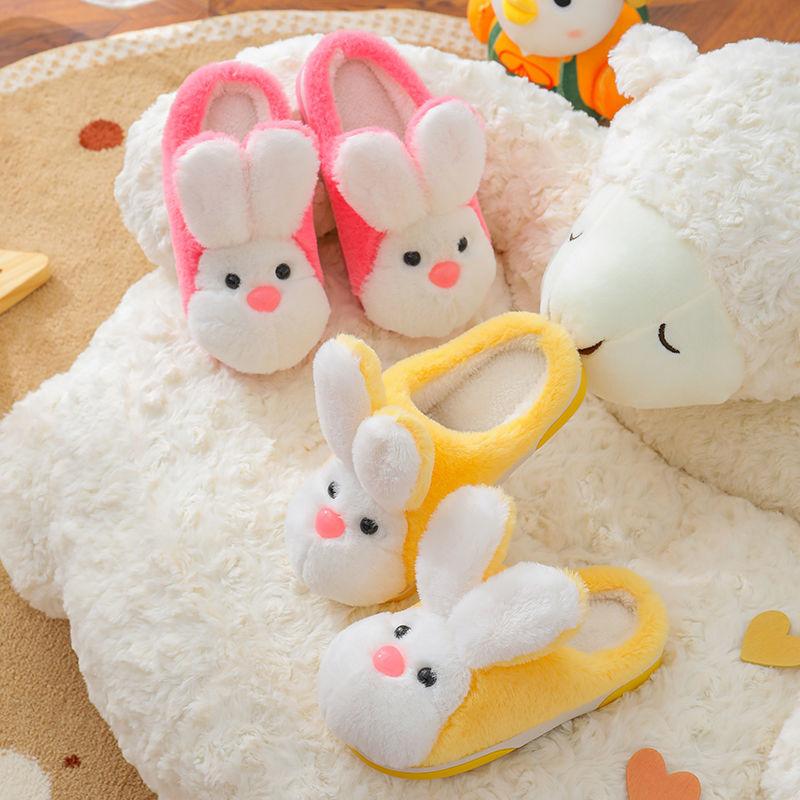 75893-儿童棉拖鞋秋冬季男童女童室内小孩保暖居家中大童可爱宝宝毛绒拖-详情图