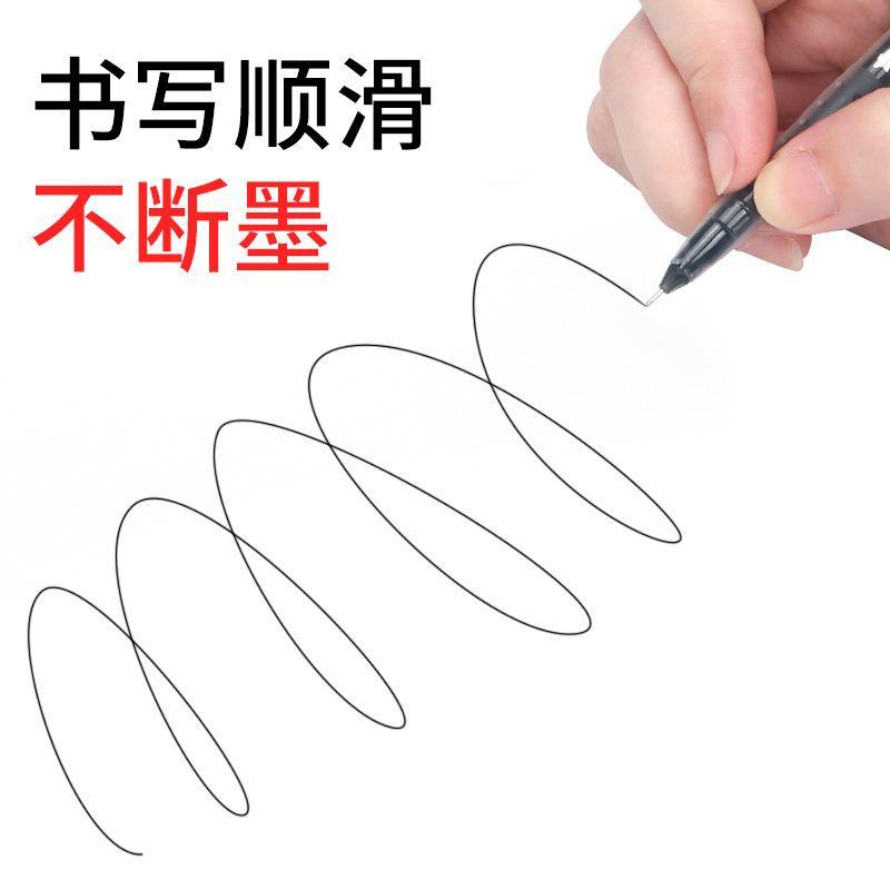 75820-最炫碳素黑中性笔0.5mm针管头学生考场必备考试祈福大容量水性笔-详情图
