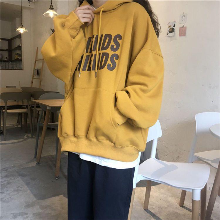 75906-卫衣加厚连帽秋季韩版2021新款潮小个子宽松长袖学生显瘦上衣女装-详情图