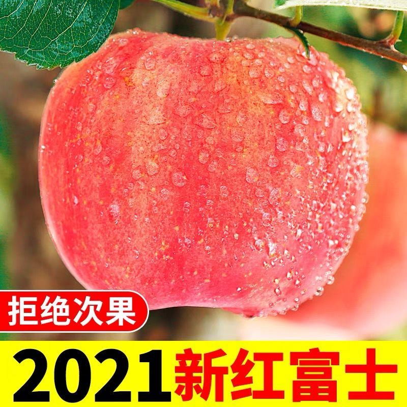 优质特级洛川红富士苹果新鲜水果当季整箱脆甜有机条纹冰糖心包邮