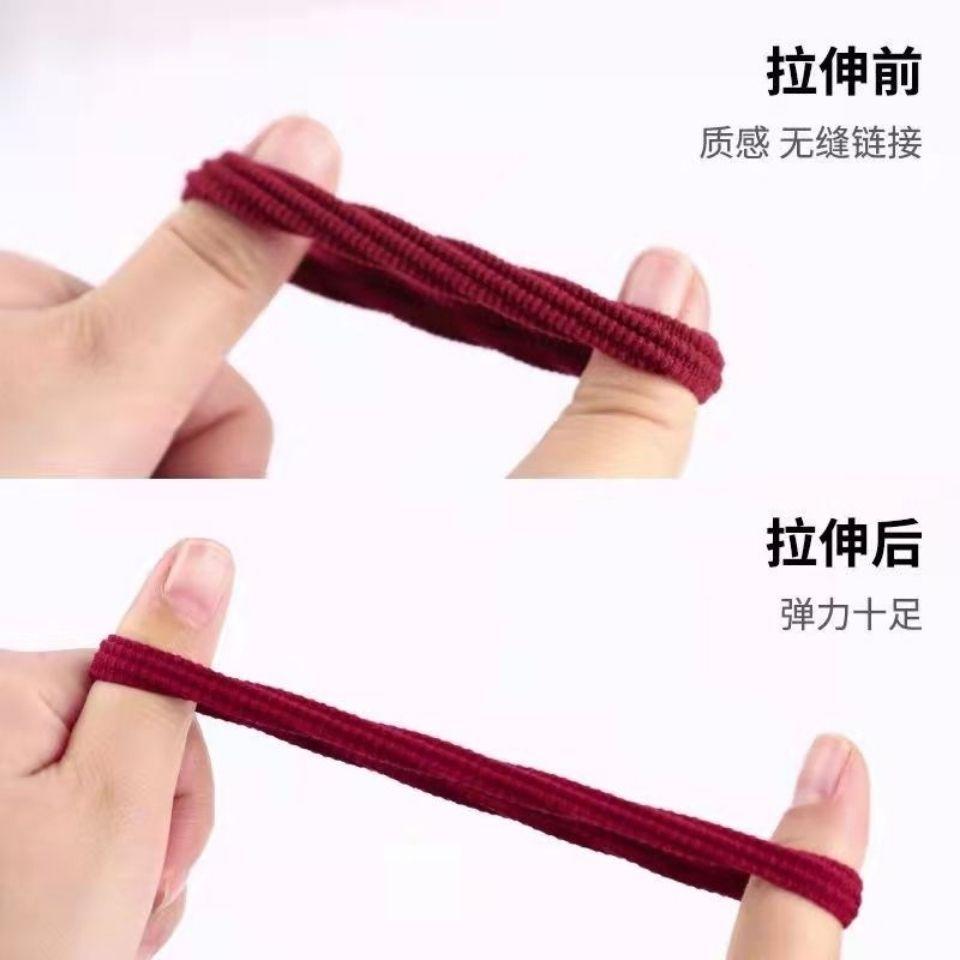 75833-加粗高弹力发绳无接缝发圈成人扎头发皮套皮筋女韩国简约头绳饰品-详情图
