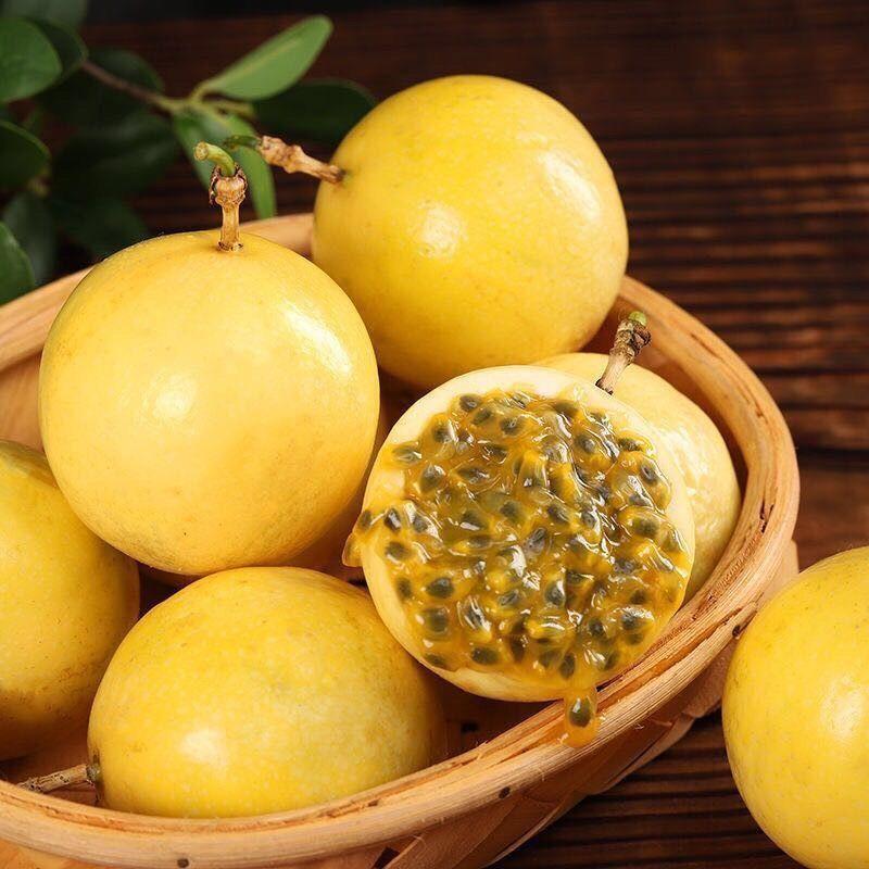 黄金百香果新鲜当季孕妇水果包邮一级甜黄皮百香果鸡蛋果产地批发