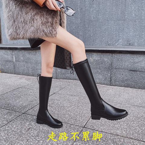 马丁靴女英伦风2021新款长筒靴不过膝长靴网红瘦瘦靴洋气女靴百搭