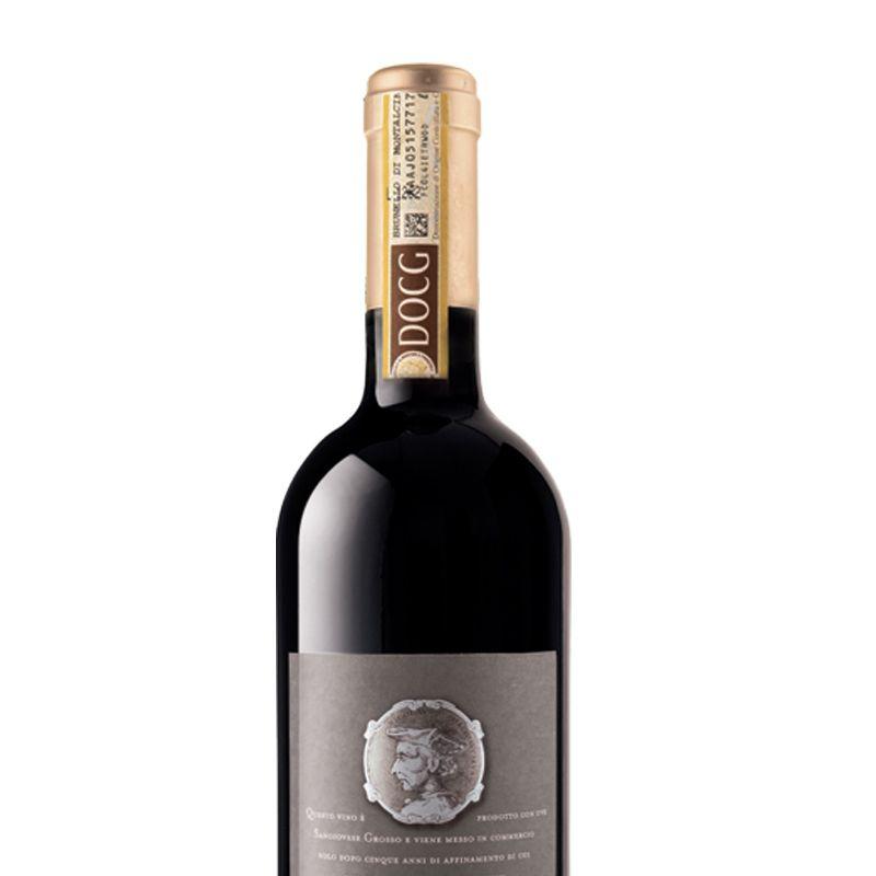 意大利蒙塔奇诺产区布鲁奈罗红酒原瓶原装进口马基维利干红葡萄酒