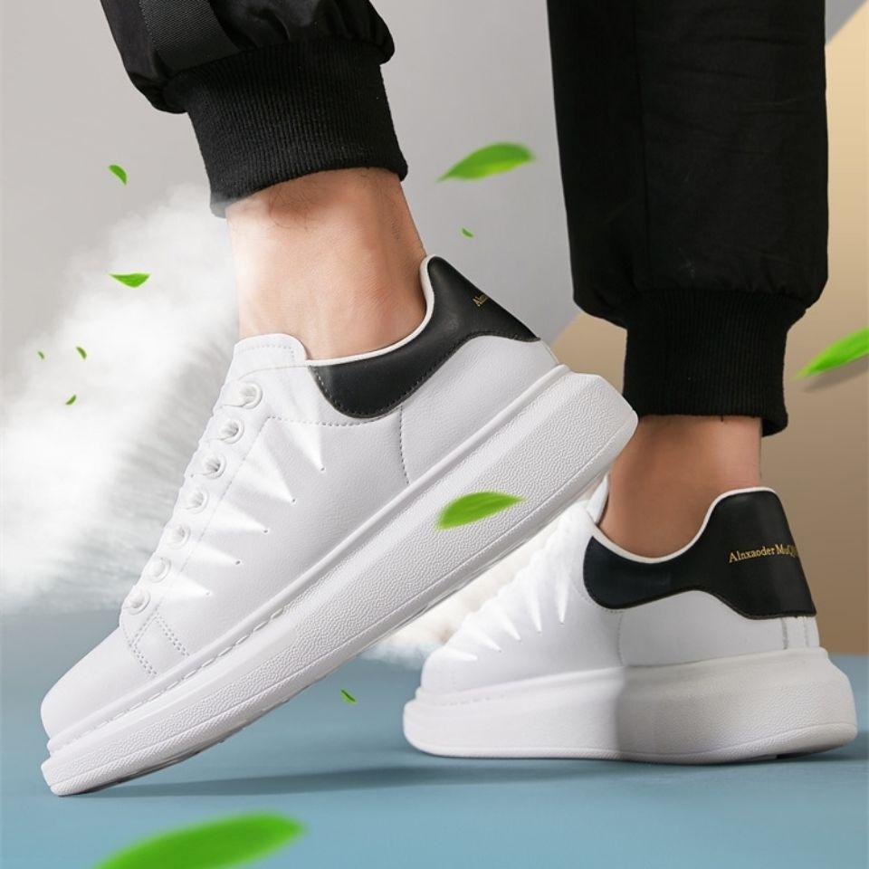 麦昆情侣小白鞋韩版潮流百搭男士运动鞋秋季透气增高休闲板鞋子女