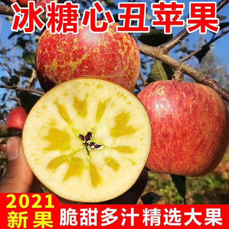88757-【大凉山冰糖心丑苹果】红富士苹果水果新鲜脆甜整箱批发3/5/10斤-详情图
