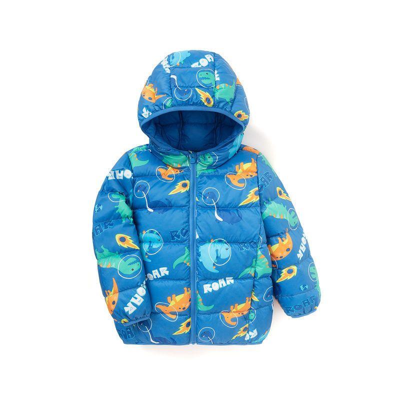 88905-巴拉巴拉中大童羽绒服连帽男女童2021新款秋冬儿童加厚外套可爱萌-详情图