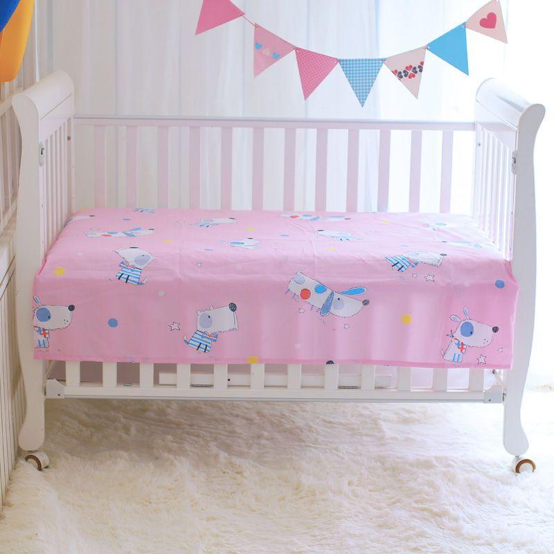 梦安馨婴儿床纯棉床单新生儿婴幼宝宝儿童卡通幼儿园宿舍单件床单