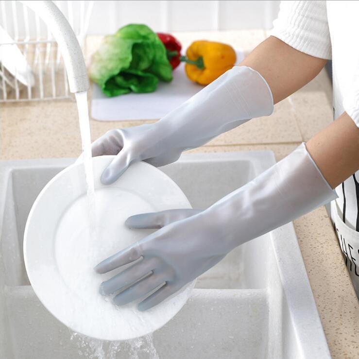 蔓妙家用手套春夏洗碗手套女薄款贴手家务厨房防水耐用洗菜洗衣服