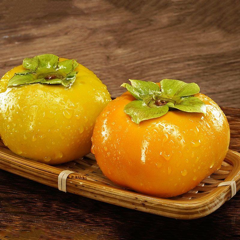88861-广西恭城脆柿子水果新鲜应季巧克力脆甜硬柿子一整箱批发3/5/10斤-详情图