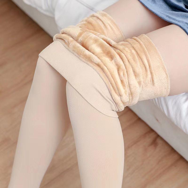 88923-秋冬打底裤加厚加绒女外穿肉肤色大码光腿神器一体踩脚连裤袜保暖-详情图
