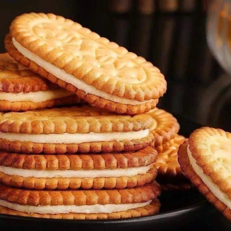 经典传统怀旧香蕉味夹心饼干童年味道老师糕点