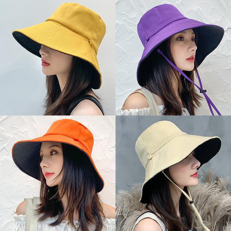 夏季渔夫帽女遮脸韩版防晒紫外线遮阳帽子
