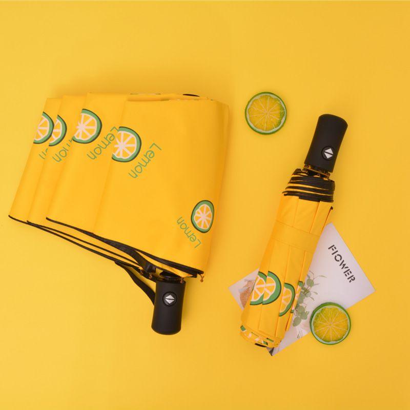 遮阳防晒伞果趣水果伞全自动晴雨伞黑胶