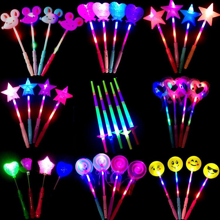 发光棒魔法棒荧光棒闪光仙女棒夜市地摊儿童玩具地推活动礼品引流