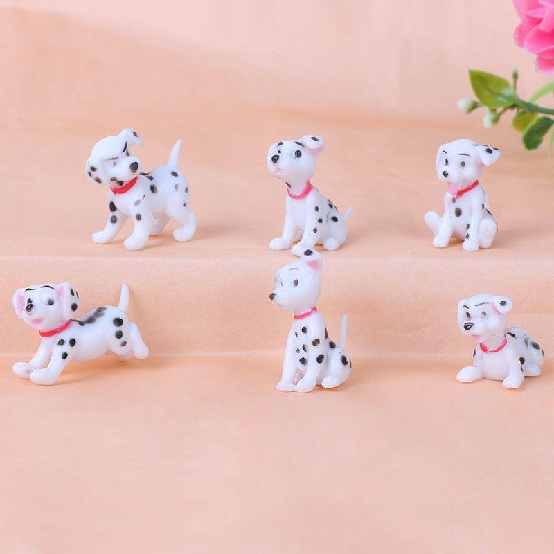 6款斑点狗玩偶手办公仔  可爱小狗DIY手机配件钥匙扣玩具摆件