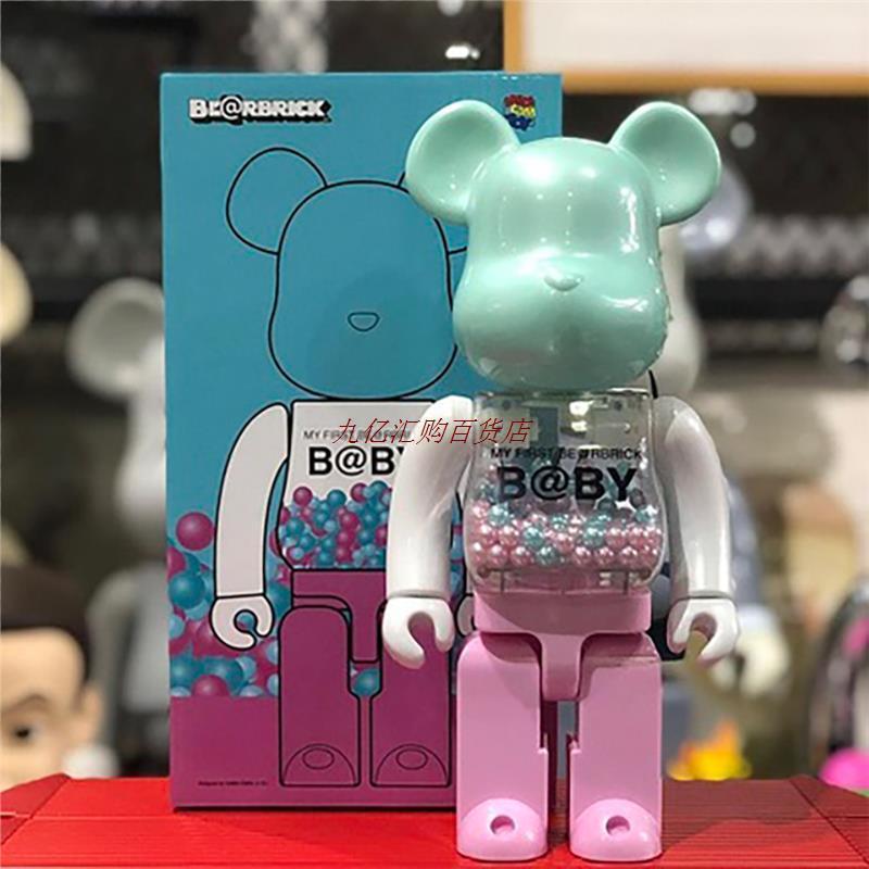 BE@RBRICK积木熊澳门千秋 W的F限定初代400%玩具模型摆件全新未拆