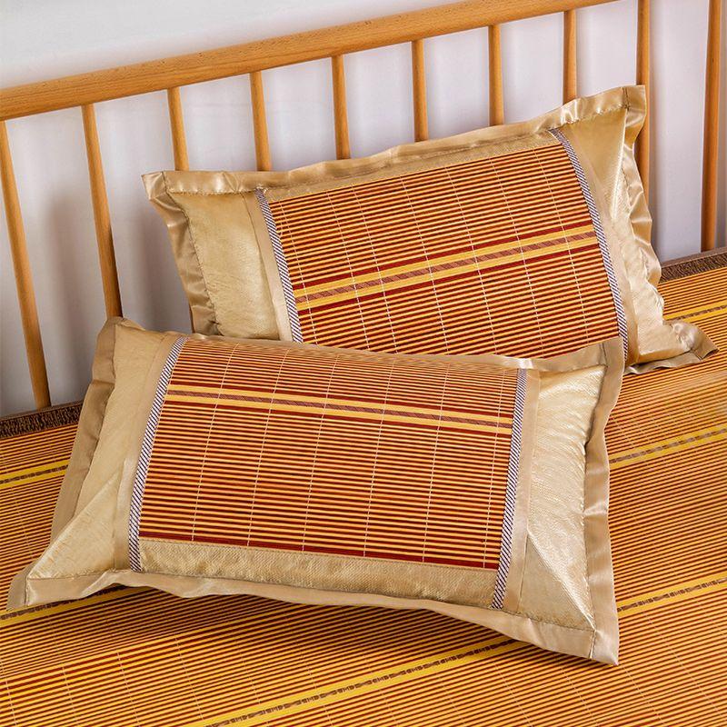 夏天凉席枕头套凉爽冰丝单人枕套藤夏季单个竹枕席一对装需拍2个