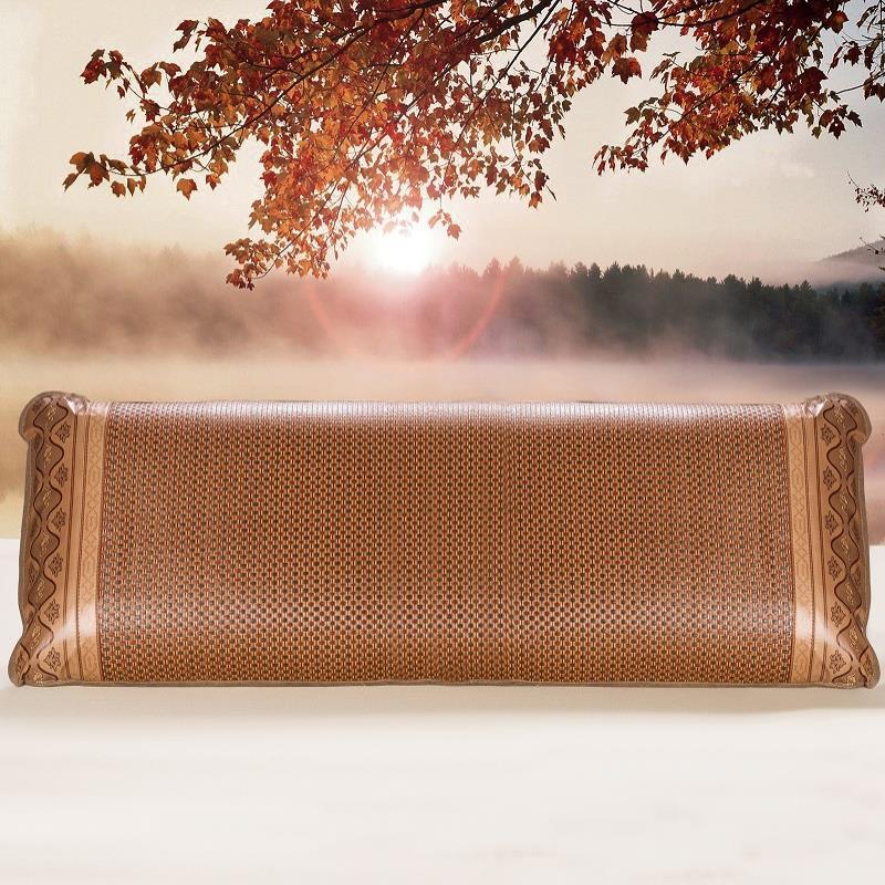 夏季长枕套 夏天凉席情侣结婚成人枕头套1.2m 1.5米冰丝双人枕
