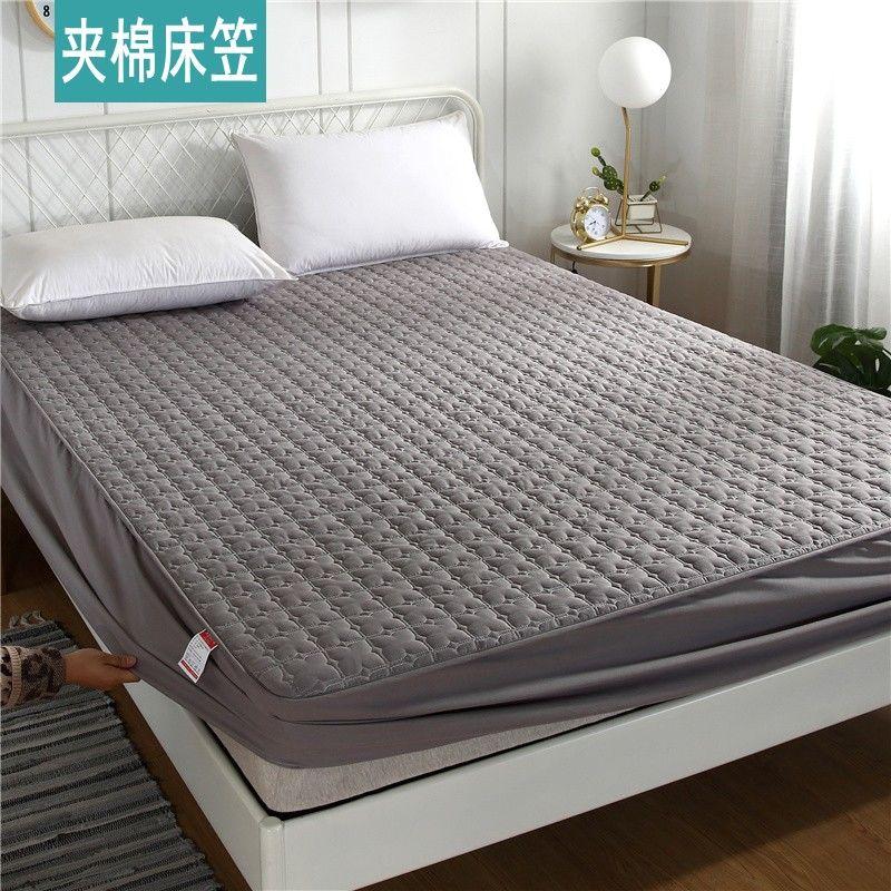纯棉单件夹棉床笠加棉床罩席梦思保护罩薄床套床垫防尘罩防滑固定