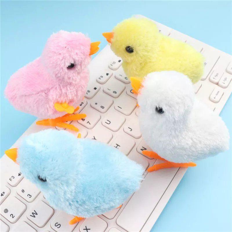 可爱仿真发条小鸡跳跳会跑的玩具儿童男女宝宝小孩上链迷你小玩具