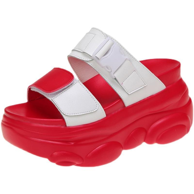 37755-网红凉拖鞋女外穿2021新款夏季百搭松糕厚底增高一字拖时尚拖鞋潮-详情图